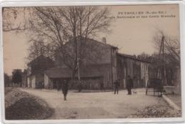 CPA 13 : PEYROLLES - Route Nationale Et Rue Croix Blanche - Ed. Vinson ; Jaubert - 1918 - Peyrolles