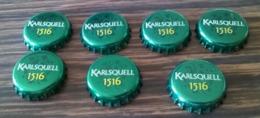 Portugal Lot 7 Capsules Bière Beer Crown Cap Karlsquell 1516 Brassée En France - Bier