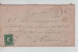 PR6932/ TP 30 S/L.c.Haecht Janvier 1872 LOS PTS 187 + Boîte ZZ Ds Hexagone > Mechelen C.d'arrivée - Postmarks - Points