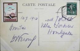 CPA. - > Aviation > 2iéme Gde Semaine D'Aviation De Champagne (5.7.1910) Vignette REIMS AVIATION 1910 - Daté 10.7.1910 - Meetings