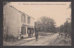 CPA VAUJOURS-Restaurant Du Pont De Villepinte Sur Le Canal De L'Ourcq-Animée- - France
