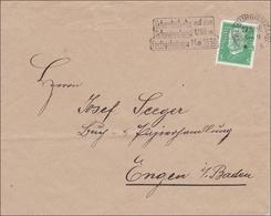 Perfin: Brief Aus Freiburg, Schwebebahn, 1930, F.Z. - Unclassified