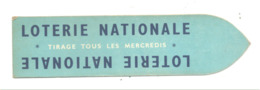 Marque Pages - Signet - Publicitaire - LOTERIE NATIONALE  (b260) - Marque-Pages