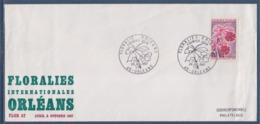 = Floralies Internationales Orléans, Enveloppe Cachet 1er Jour 29 Juillet 1967 N°1528 - Covers & Documents