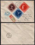 HONGRIE - BUDAPEST - JEUX OLYMPIQUES / 1952 LETTRE RECOMMANDEE POUR LA FRANCE (ref 7373) - Ungheria