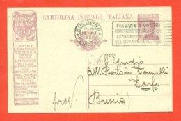 INTERI POSTALI - R4A/8   PER  DARFO - 1900-44 Vittorio Emanuele III