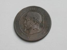 Monnaie Satirique Sur 10 Centimes Napoléon III 18.. D   **** EN ACHAT IMMEDIAT **** - Errores Y Curiosidades