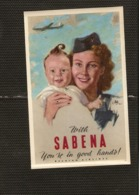 Lot De 6 Publicités SABENA - Etiquettes à Coller - Publicidad