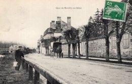 S2723 Cpa 51 Quai De Marcilly Sur Seine - France