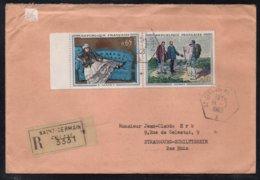 SAINT GERMAIN EN LAYE - TABLEAUX / 1963 LETTRE RECOMMANDEE POUR STRASBOURG (ref 7468) - France