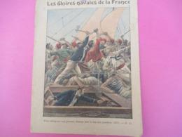 Couverture De Cahier écolier/Les Gloires Navales De La France/Bisson Met Le/Collection Charier Saumur/Vers 1900  CAH260 - Löschblätter, Heftumschläge