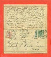 INTERI POSTALI - B10 - TASSATA PER AFFRANCATURA  INSUFFICIENTE ALL'ARRIVO - -ETROUBLES - 1900-44 Victor Emmanuel III