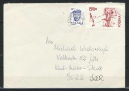 Polen, MiNr. 2540 + 2987 Auf Brief In Die DDR; B-42 - 1944-.... Republik