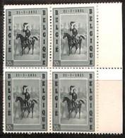 [813625]BELGIQUE 1957 - N° 1020, Léopold I, Arrivée à Bruxelles,Familles Royales, BD4, BD4, Bdf - Bélgica