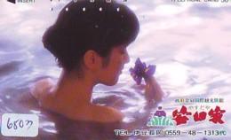 Télécarte Japon * EROTIQUE (6803) DANS LA BAIN *  EROTIC PHONECARD JAPAN * TK * BATHCLOTHES * FEMME SEXY LADY LINGERIE - Moda