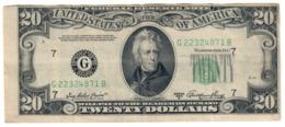 USA 20 Dollars 1950 A Cut Error *V* - Biljetten Van De  Federal Reserve (1928-...)