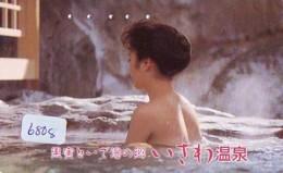 Télécarte Japon * EROTIQUE (6808) DANS LA BAIN *  EROTIC PHONECARD JAPAN * TK * BATHCLOTHES * FEMME SEXY LADY LINGERIE - Moda