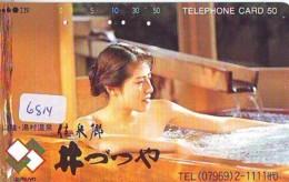 Télécarte Japon * EROTIQUE (6814) DANS LA BAIN *  EROTIC PHONECARD JAPAN * TK * BATHCLOTHES * FEMME SEXY LADY LINGERIE - Moda