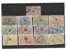 België  Spoor N° 15/27  Cote 58 Euro - 1895-1913
