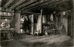 Wohnstube In Zwingli's Hütte (Wildhaus) (728) * 8. 9. 1907 - SG St. Gallen