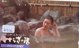 Télécarte Japon * EROTIQUE (6826) DANS LA BAIN *  EROTIC PHONECARD JAPAN * TK * BATHCLOTHES * FEMME SEXY LADY LINGERIE - Moda