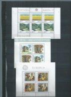 "27 Blocs**  Europa ""Portugal, Açores, Madère"" 1977 à 1988 ; Cote 369€ - Europa-CEPT"