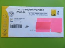 PAP - Lettre Recommandée Mobile - Monuments - Tour Eiffel - 20 G -  Courrier Suivi - PAP : Altri (1995-...)