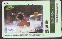Télécarte Japon * EROTIQUE (6839) DANS LA BAIN *  EROTIC PHONECARD JAPAN * TK * BATHCLOTHES * FEMME SEXY LADY LINGERIE - Moda
