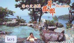 Télécarte Japon * EROTIQUE (6847) DANS LA BAIN *  EROTIC PHONECARD JAPAN * TK * BATHCLOTHES * FEMME SEXY LADY LINGERIE - Moda