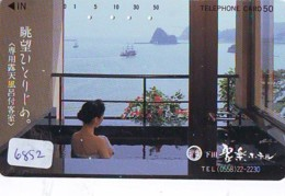 Télécarte Japon * EROTIQUE (6852) DANS LA BAIN *  EROTIC PHONECARD JAPAN * TK * BATHCLOTHES * FEMME SEXY LADY LINGERIE - Moda