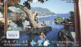 Télécarte Japon * EROTIQUE (6862) DANS LA BAIN *  EROTIC PHONECARD JAPAN * TK * BATHCLOTHES * FEMME SEXY LADY LINGERIE - Moda