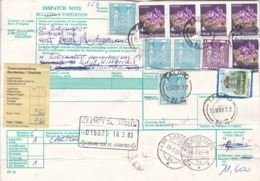 Paketkarte New Zealand: 1983 Dougane Geneve- Airoport. Von Taupo Nach 4108 Witterswil - Autres - Europe