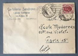 Italie, Carte De Lanzo Torinese Pour Paris 1929 - (W1322) - 1900-44 Vittorio Emanuele III
