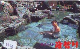 Télécarte Japon * EROTIQUE (6866) DANS LA BAIN *  EROTIC PHONECARD JAPAN * TK * BATHCLOTHES * FEMME SEXY LADY LINGERIE - Moda