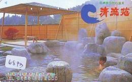 Télécarte Japon * EROTIQUE (6873) DANS LA BAIN *  EROTIC PHONECARD JAPAN * TK * BATHCLOTHES * FEMME SEXY LADY LINGERIE - Moda