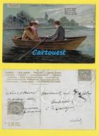 CPA LAC COUPLE ROMANTIQUE BATEAU Carte Gaufrée   ☺♦♦  1904 Embossée - Couples