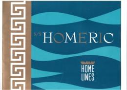 Paquebot Homeric - Album Cartonné 28 Pages - Nombreuses Illustrations - Home Lines - Ligne Vers Canada - 27,5 X 23 Cm - Bateaux