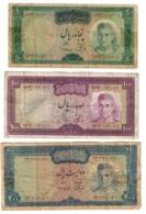 Iran Lot Set 3 Banknotes *V* - Iran