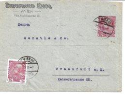 1570c: Privatganzsache Siegfried Engel, Wien- Neubaugasse, Gelaufen Mit Zusatzfrankatur 1911 - Entiers Postaux