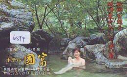 Télécarte Japon * EROTIQUE (6877) DANS LA BAIN *  EROTIC PHONECARD JAPAN * TK * BATHCLOTHES * FEMME SEXY LADY LINGERIE - Moda
