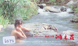 Télécarte Japon * EROTIQUE (6878) DANS LA BAIN *  EROTIC PHONECARD JAPAN * TK * BATHCLOTHES * FEMME SEXY LADY LINGERIE - Moda