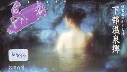 Télécarte Japon * EROTIQUE (6883) DANS LA BAIN *  EROTIC PHONECARD JAPAN * TK * BATHCLOTHES * FEMME SEXY LADY LINGERIE - Mode