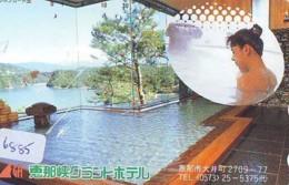 Télécarte Japon * EROTIQUE (6885) DANS LA BAIN *  EROTIC PHONECARD JAPAN * TK * BATHCLOTHES * FEMME SEXY LADY LINGERIE - Moda