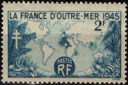 FRANCE 741 ** MNH La France D'Outre-mer Croix De Lorraine - Unused Stamps