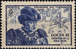 FRANCE 743 ** MNH Journée Du Timbre Et Louis XI - Entraide Française - France