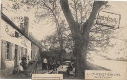"""Le Chatelet :  Chez Le Cascarot, """"non Réclamé"""", """"rebuts"""", Timbre Taxe Voyagé 1921 Vers Reims Et Retour - France"""