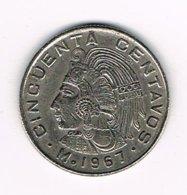 //  MEXICO  50  CENTAVOS  1967 - Mexico