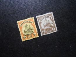D.R.Mi 11/20 - 25Pf**MNH / 3(*)UNG - Deutsche Kolonien ( Marianen ) 1901/1916 - Mi 5,70 € - Colonia:  Islas Maríanas