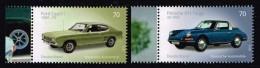 Bund 2016, Michel# 3201 - 3202 ** Porsche 911 Targa / Ford Capri 1 - BRD