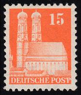 Bizone 81 XF Bauten 15 Pf., Orange, Weit ** - Bizone